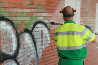 La mayor sanci�n impuesta en la zona por realizar graffitis
