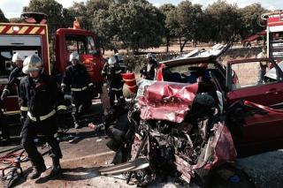 Mortal accidente de tráfico en Manzanares el Real