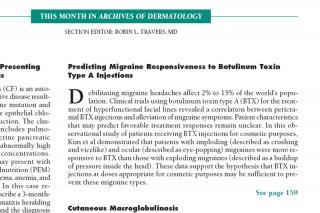 Fragmento del art�culo Predicting Migraine Responsiveness to Botulinum Toxin Type A Injections en la revista m�dica americana Archives of Dermatology